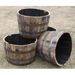 Whiskey Half-Barrel